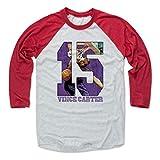 500 LEVEL Vince Carter Baseball Shirt XX-Large Red/Ash - Toronto Basketball Fan Apparel - Vince Carter Game P