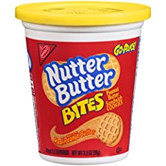 Nutter Butter Bites Mini Peanut Butter Sandwich Cookies—made with real peanut butter—are the peanut butter lover's cookie. These crunchy bite-sized peanut butter sandwich cookies are filled with sweet peanut butter cream to satisfy both your savory a...