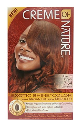 Creme Of Nature Hair Color - Haarfarbe Exotic Shine Color Bronze Copper 7.64