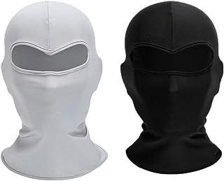 PRETYZOOM Outdoor Riding Headwear Sports Sun UV Protection Face Shield Cycling Headwear Sun Block Protective Shield 2pcs シBlack+Whiteシ