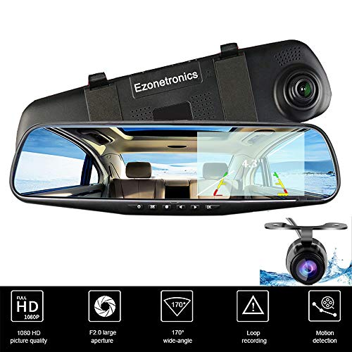 Ezonetronics - Grabadora de vídeo para coche Full HD 1080P - LCD para los...