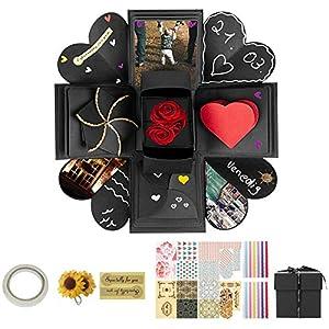 Tdbest Überraschung Box, Explosion Box, DIY Geschenk Scrapbook Faltendes Fotoalbum Überraschungsbox für Weihnachten/Valentine/Jahrestag/Geburtstag/Hochzeit