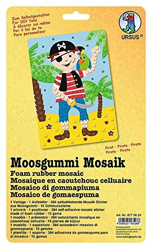 Ursus 8770024 - Moosgummi Mosaik, Pirat, ca. 23 x 16 cm