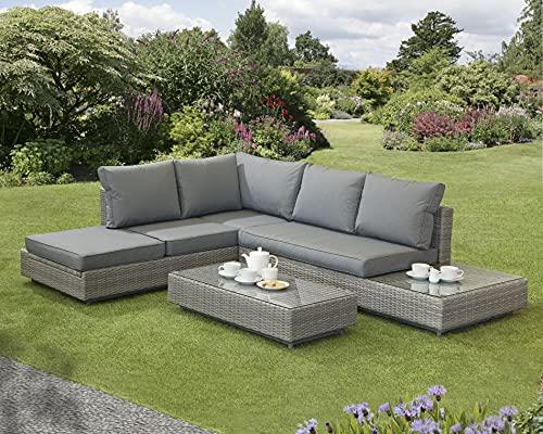 Corner Sofa Sun lounger Rattan Wicker Luxury Garden Bahama 5 Year Warranty From The Norfolk Leisure Handpicked Range