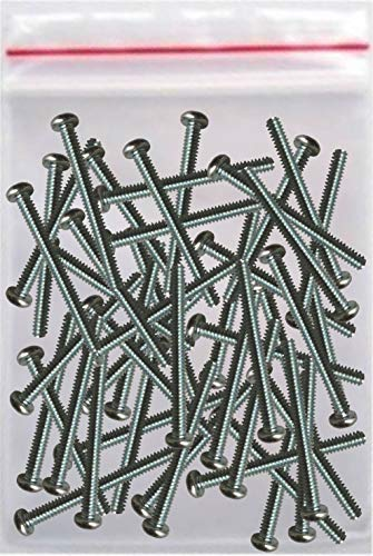 """Extra Long Screws for Outlets Receptacles and Switches - Perfect for Recessed Electric Boxes and Wall Plates – 50 Count Pack 1-1/2"""" Length 6-32 Thread – for Outlet Spacers or Electrical Box Extenders"""