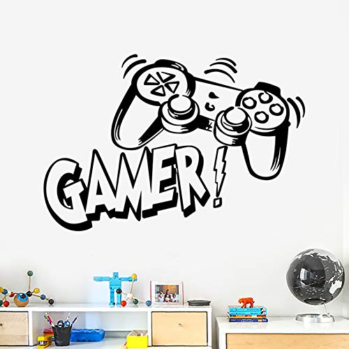 Game Controller Wall Decals Gamer Wall Stickers Video Game Wall Decor for Kids Room, Creatice Video Game Wall Posters Removable Gaming Wallpaper for Bedroom Playroom
