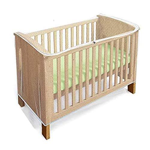 Mosquitero para cuna, Red antiinsectos de malla fina con zíper para cunas y minicunas, acceso rápido y fácil a su bebé, tamaño universal para la mayoría de las camas