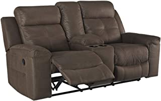 Signature Design by Ashley 8670494 Jesolo Reclining Loveseat with Console, Coffee