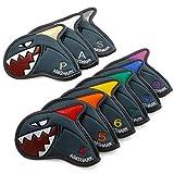 AIMSHARK Coloring Golf Iron Covers/9pcs Set/Golf Head Covers (Gray Set)