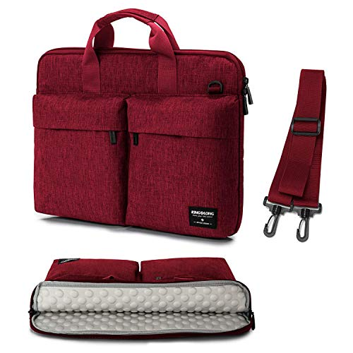 17 17.3 inch Laptop Sleeve Case Bag Slim Laptop Carrying Case Shoulder Bag Compatible with HP Asus Dell Red