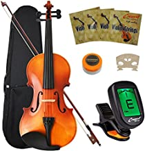 Crescent 4/4 Full Size Student Violin Starter Kit (Includes CrescentTM Digital E-Tuner)