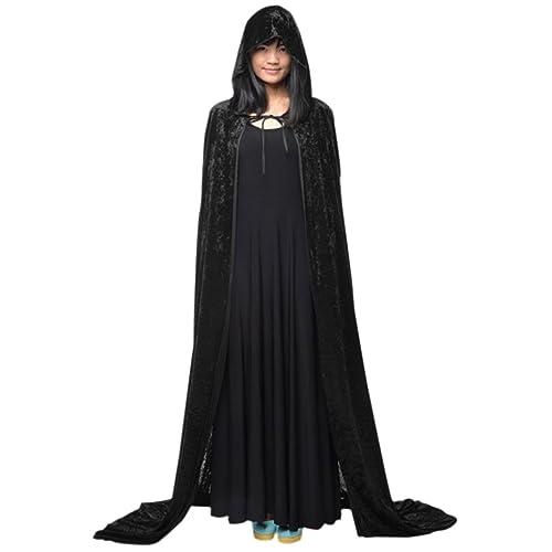 c39c2d7783 Adults Long Halloween Fancy Dress Hooded Robe Cloak Wizard Cosplay Costumes  Cape