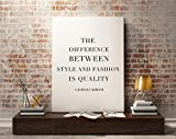 Giorgio Armani Quote, Fashion Print, The Difference Between