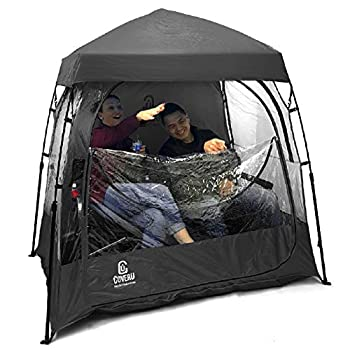 EasyGoProducts CoverU Sports Shelter –Weather Tent Pod – Patented  2 People-Black