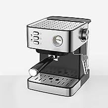 DGYAXIN Máquina de Espresso, Cafetera Espresso Steam & Pump 20 Bar de presión/Termómetro observable/1.5 litros/850 vatios/Espuma de Leche de Vapor para el Hogar/Oficina - Plata