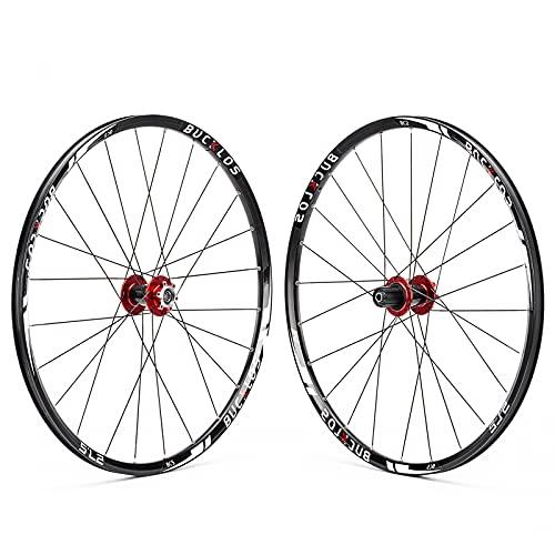 BUCKLOS Mountain Bike Wheelset 26'/27.5'/29', Disc Brake Bike Wheels for 7-11 Speed Cassette, 24H Carbon Hub Bicycle Wheels Quick Release, Low Resistant Flat Spokes MTB Wheelset