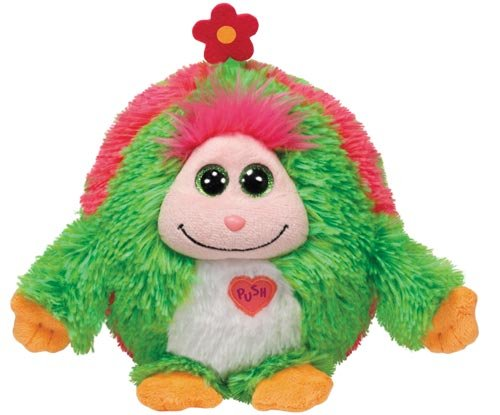 TY 7137125 - Daisy - Monster, Monstaz, 15 cm, grün mit Blume