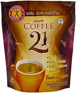 2 X 10個の小袋入りタイDdとすることで、タイNaturegiftインスタントコーヒーミックス21プラスL-カルニチンスリミングダイエット