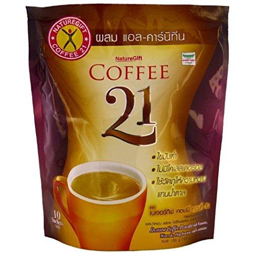 2 X 10 Sachets Thai Naturegift L-carn Mix Branded goods Coffee Plus 21 Instant Cheap bargain