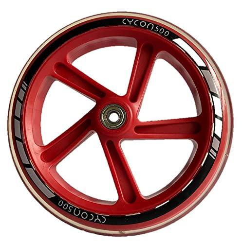 Cycon 200mm City Scooter Ersatzräderset - 2 STK PU Wheels - ABEC 5 Kugellager, Roller Rad Ersatz-Räder passend für City-Scooter