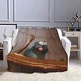 Hanayo Ratatouille Meme Flannel Fleece Throw Blanket Soft Cozy Lightweight Fluffy Microfiber Blanket All Season Fuzzy Plush Throw Blanket for Couch Bed Sofa 60'X50'