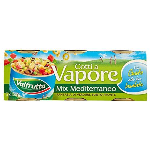 Valfrutta Cotti a Vapore Mix Mediteraneo, 3 x 140g