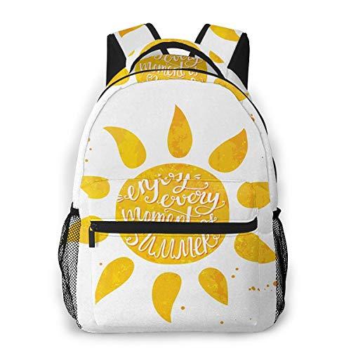 Rucksack Männer und Damen, Laptop Rucksäcke für 14 Zoll Notebook, Gepunkteter Sommerurlaub Kinderrucksack Schulrucksack Daypack für Herren Frauen