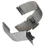 Bracelet de Montre Geckota Maille Milanaise de Qualité, Classique et Ajustable,...