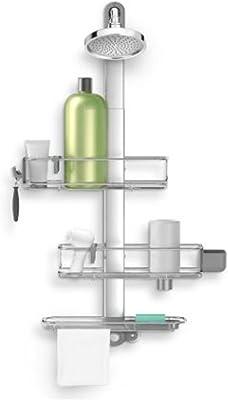 Amazon.com: simplehuman - Taquilla de ducha (acero ...