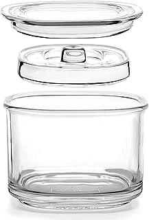 TAMUME 850ml Jarra Fermentacion de Vidrio con Tapa, Tarro de Almacenamiento de Alimentos para Elaborar Kimchi, Chucrut, Encurtidos y Vegetales