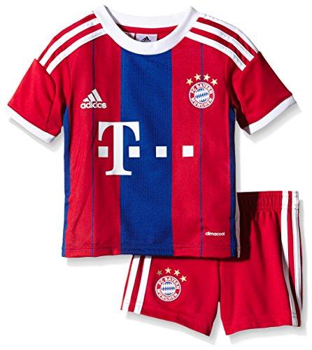adidas Kinder Trikot und Short FC Bayern Home Mini Kit, FCB True Red/Collegiate Royal/White, 110