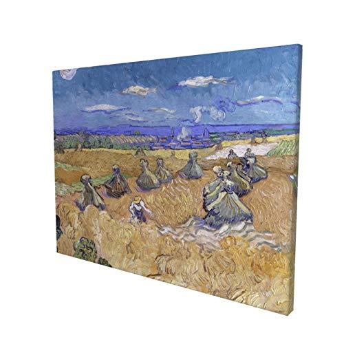 Vincent Van Gogh - Póster decorativo de campos de trigo con segador Auvers (40 x 30 cm)
