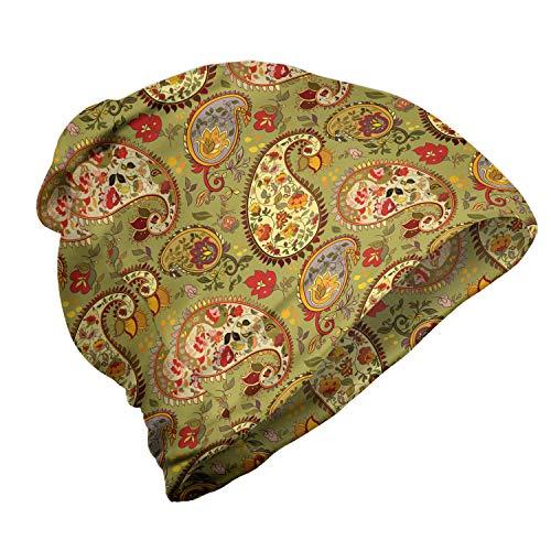 ABAKUHAUS Paisley Unisex Muts, Kleurrijke Perzische Style, voor Buiten Wandelen, Veelkleurig