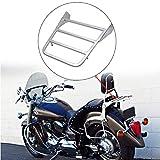 Samger Motocicletta Cromato Portapacchi Posteriori Supporto Bagagli Sissy Bar per V-Star 400 650 1100 Classic