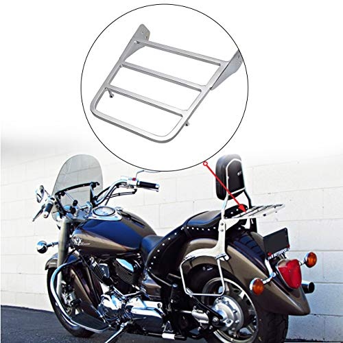 Sange Moto portaequipajes Chrome Sissy Bar para Yamaha V de Star 400 650 1100 Drag Star Xvs