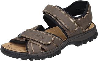 Schnür Sandale von Rieker in beige für Herren. Gr. 40,41,42,43,44,45,46,47