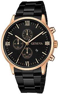 Reloj de pulsera deportivo de cuarzo con esfera de acero inoxidable militar, correa de piel, reloj de pulsera Outsta redondo !