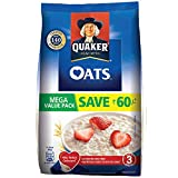 Get great savings and a great taste with Quaker oats mega saver pack and get 500g free with 1.5kg pack of Quaker oats Quaker oats is made from 100 percent wholegrain oats, which is a natural source of carbohydrates, protein and dietary fibre Garnish ...