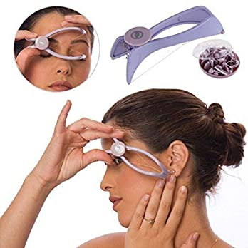 COBRA Eyebrow Face and Body Hair Threading and Removal epilators for women (Purple)