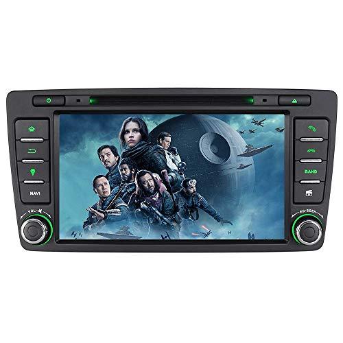 7 Zoll 2 Din Autoradio für Skoda Octavia 2009-2013 mit Wince System DVD Player GPS Navigation Radio Bluetooth unterstützt Kamera Lenkrad Bedienung 1080P Video 16GB Kartenmaterial