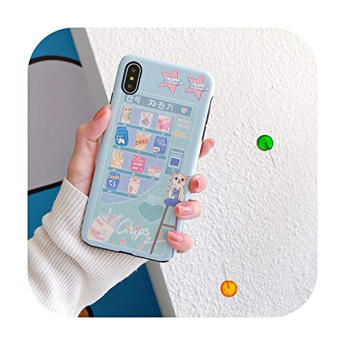 Verano dulce máquina expendedora perro teléfono caso para iPhone 11 Pro Max caso lindo suave cubierta para iPhone XS XR X 6S 7 8 Plus 7Plus Caso 02-para iPhone SE 2020