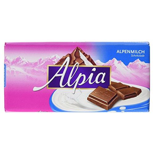 Alpia Schokolade Alpenvollmilch, 20er Pack (20 x 100 g Packung)