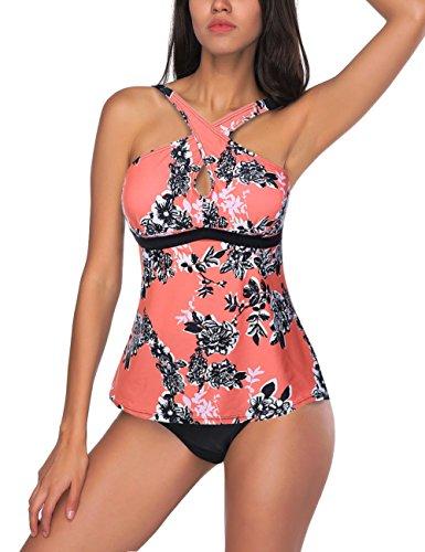 Femme Eté Maillot de Bain Une Pièce Robe Jupette Beachwear Mono Coloris Cache-Ventre