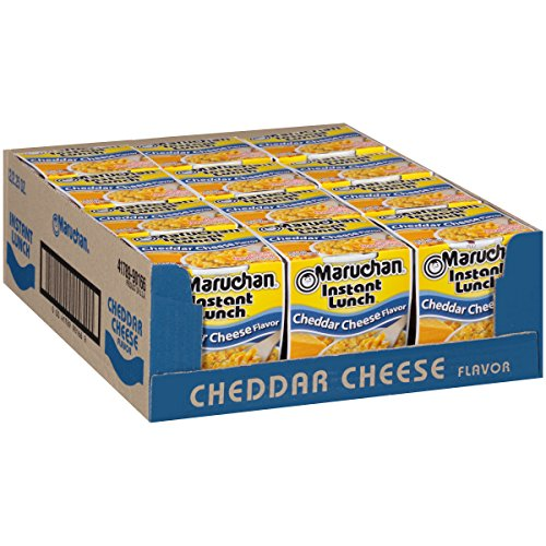 Maruchan Instant Lunch Cheddar Cheese, 2.25 Oz, Pack of 12