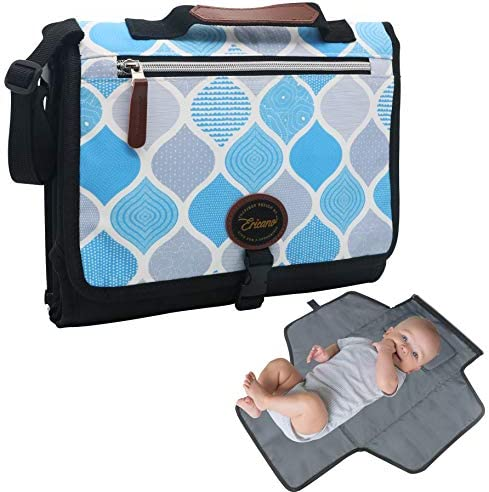 Portable Diaper Changing Pad for Baby Boy Girl 2 in 1 Travel Nappy Changing Mat and Diaper Clutch product image