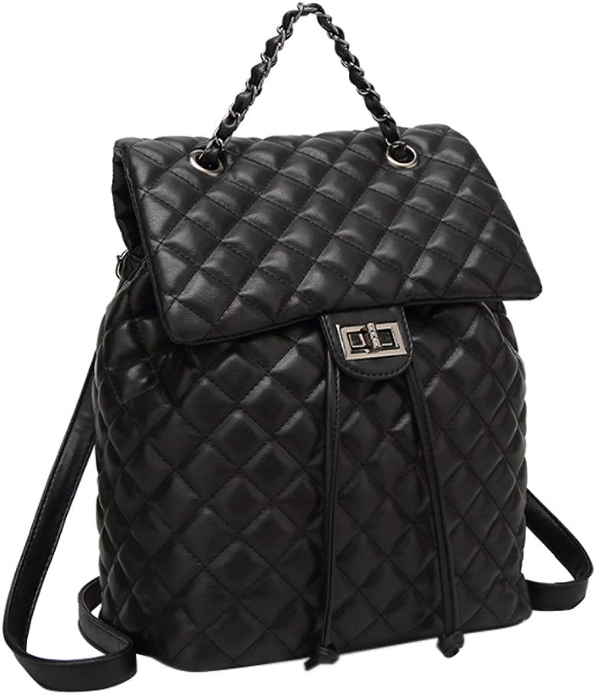 Yudesun Casual Rucksack Backpack Women  Ladies Quilted Leather Schoolbag Shoulder Bags Daypack Satchel Work Travel Elegant