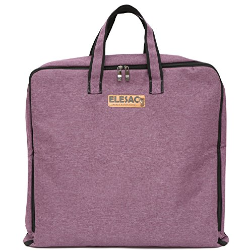 ELESAC Foldable Garment Bag,Clothing Suit Dance w/Pockets, for Business Travel (Foldable Garment Bag, Purple)