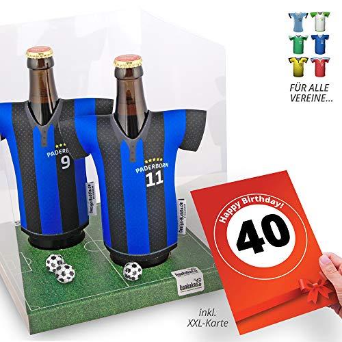 40. Geburtstag | Der Trikotkühler | Das Männergeschenk für Paderborn-Fans | Langlebige Geschenkidee Ehe-Mann Freund Vater Geburtstag | Bier-Flaschenkühler by Ligakakao