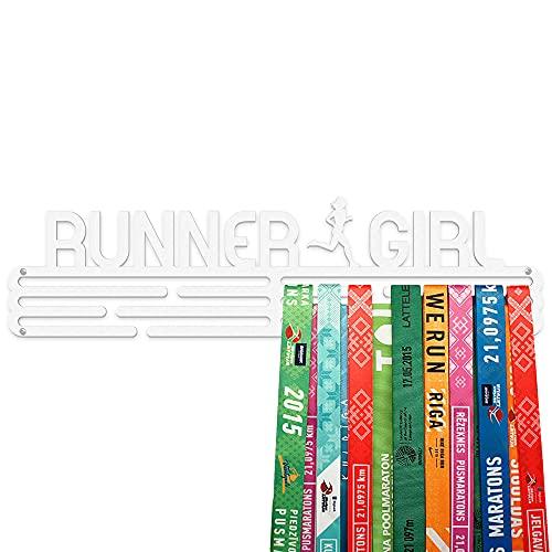 United Medals I Love Running Colgador de medallas   Medallero Acero   Medal Holder dispaly Hanger   Medalla Percha (30 medallas)