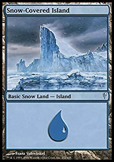 Magic: the Gathering - Snow-Covered Island - Coldsnap